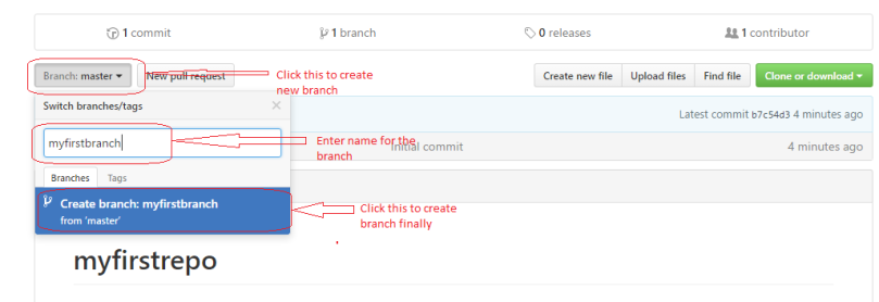 Create a new branch to start editing code
