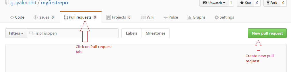 Create new pull request