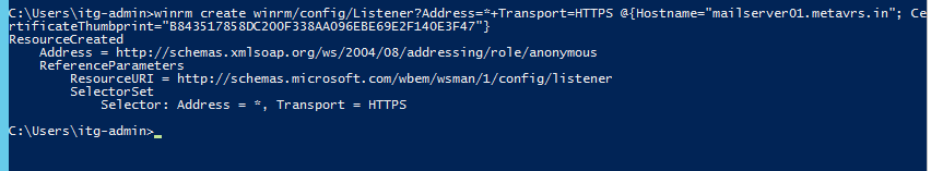 configure winrm for remoting