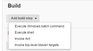 Add build step to the new job.JPG