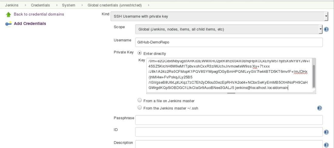 Configuring SSH authentication between GitHub and Jenkins
