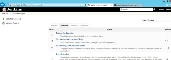 Adding matrix authorization plugin for Jenkins.JPG