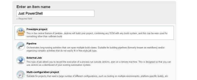 Create a empty free stypleproject for PowerShell.JPG