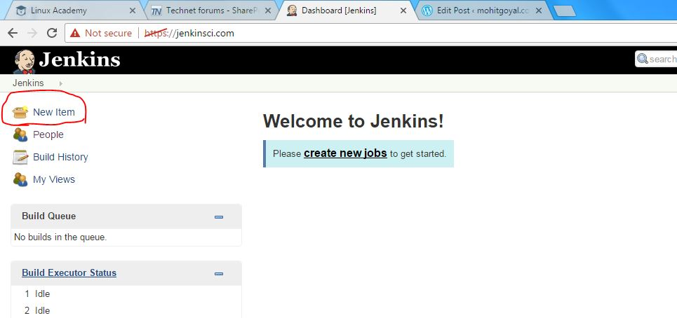 Create a first basic Job in Jenkins – mohitgoyal co