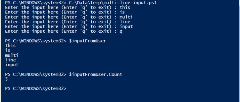 multi-line-input-demo