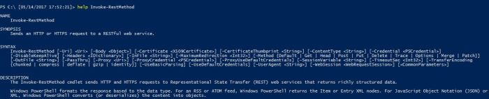 Invoke-RestMethod cmdlet available parameters