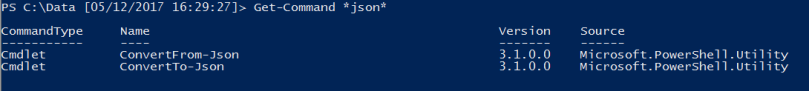JSON cmdlets in PowerShell