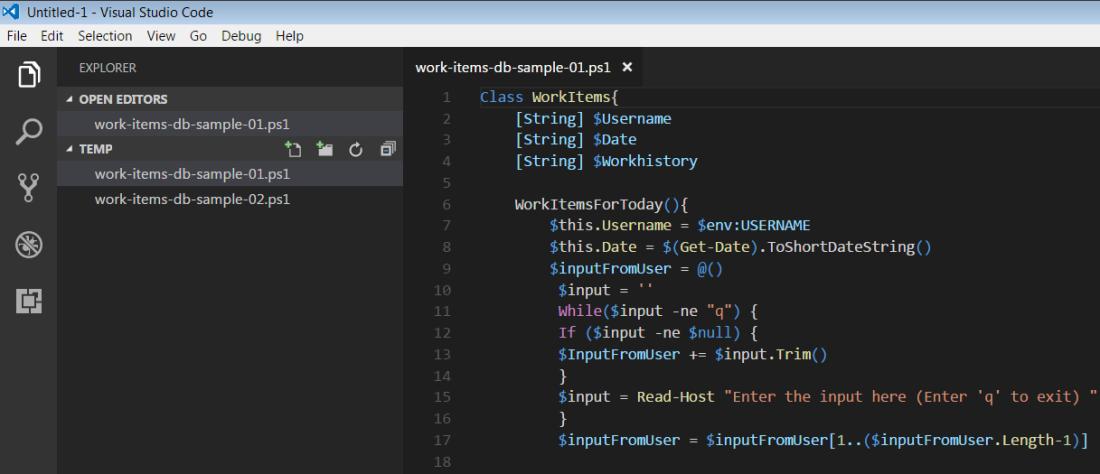 Viewing PowerShell scripts in Visual Studio Code