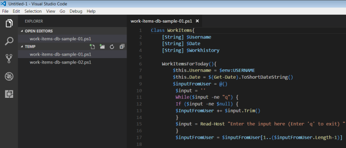 Viewing PowerShell scripts in Visual Studio Code