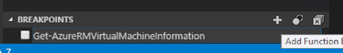 Add Function BreakPoint in the Visual Studio Code