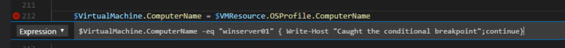 Define tracepoint in Visual Studio Code