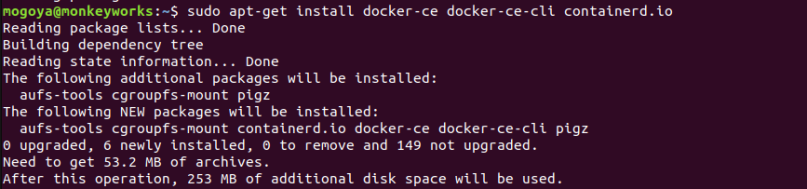 install docker ce latest version