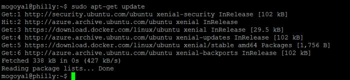Update apt package index