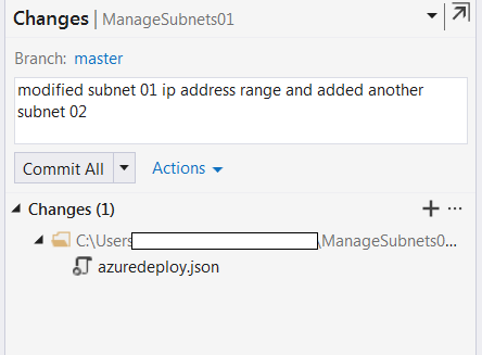 Commit your changes for the subnets-2