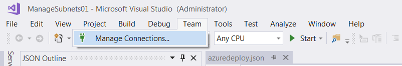 Select Manage connections from Team tab