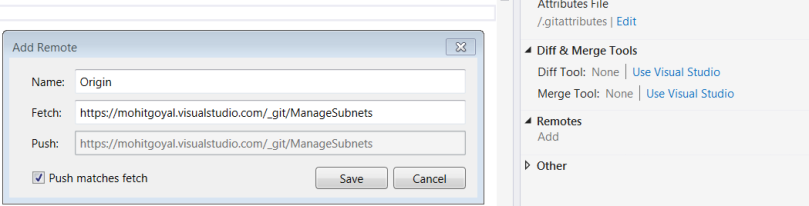 Submit repository settings