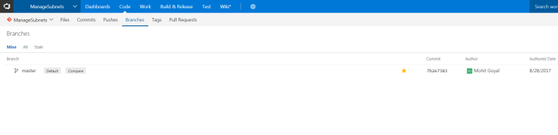 VSTS code view after submitting push --force