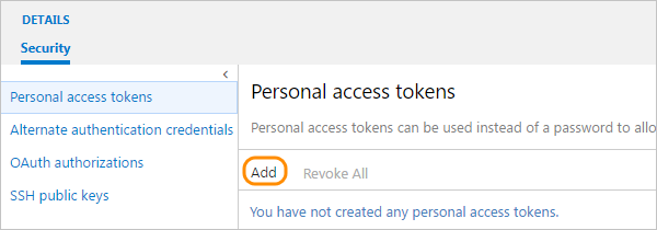 add-personal-access-token