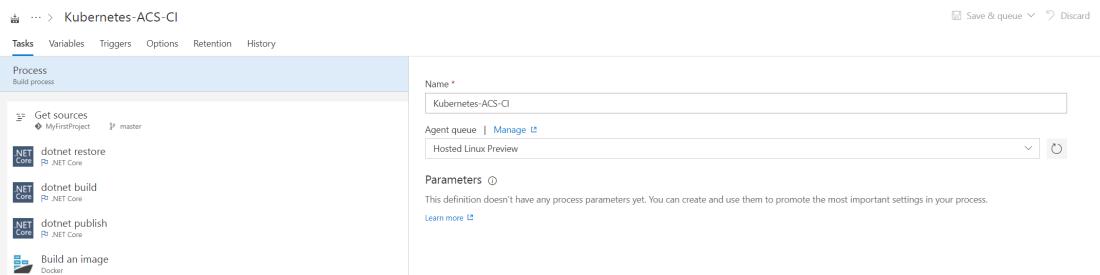Configure Build Process details