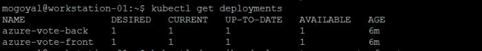 kubectl get deployments