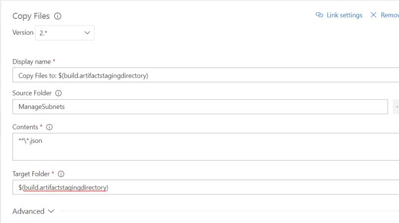 modify copy task as shown