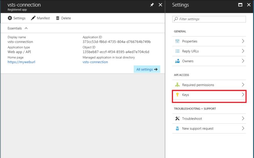 Configure client id and secret for app