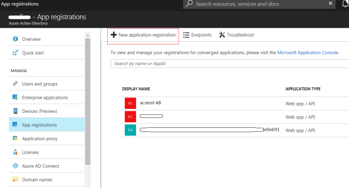 Create an azure ad app