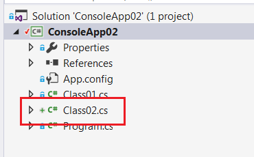 add class02.cs file to project