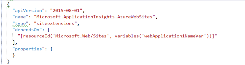 adding site extension for appinsight