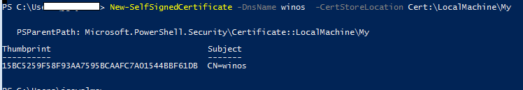 add self signed certificate to machine