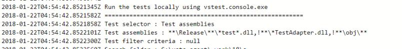 Default test task configuration for assemblies