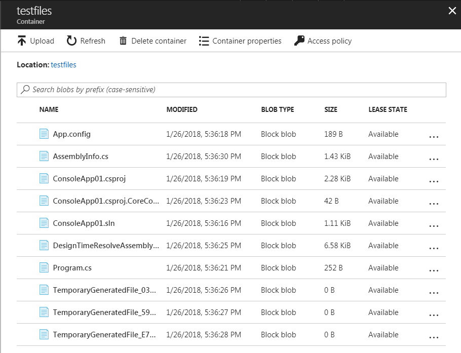 files upload to azure without preserving file hierarchy
