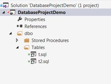 Imported sql schema files