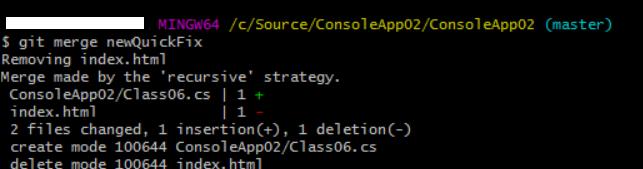 merge commits using 3-way merge