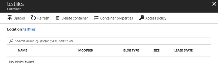 Removed files from azure blob storage - 2