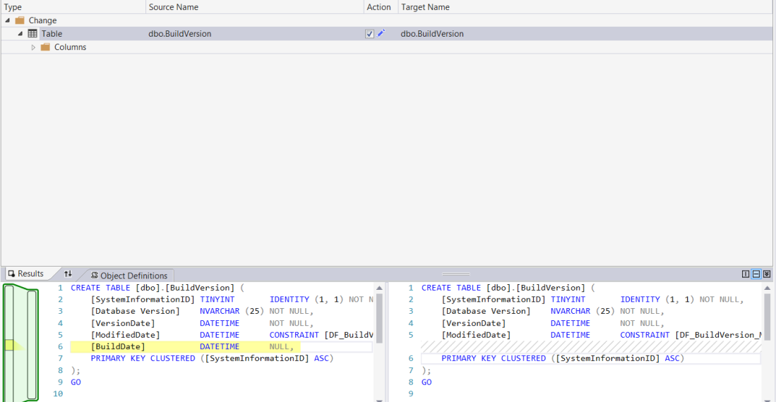 Compare SQL Database Schema and deploy changes using Visual Studio