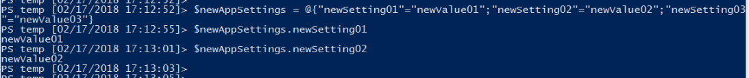 Create new hashtable using PowerShell