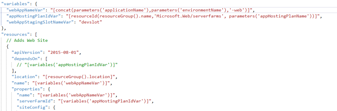 creating azure app service with existing app hosting plan