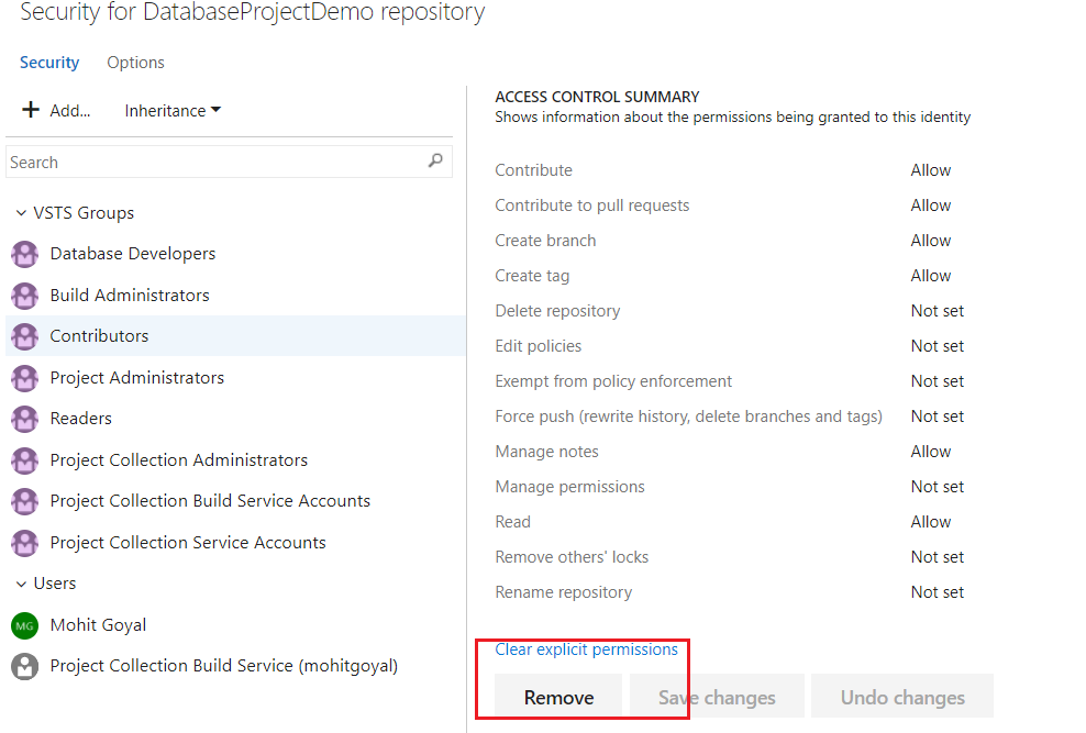 Protect source code and use code policies in VSTS