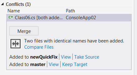 resolving merge conflicts - view files causing conflicts