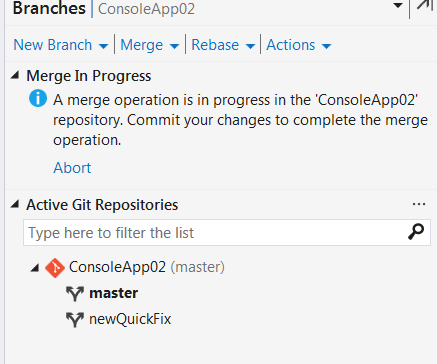 result window asking to commit explicitly