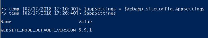 Storing app settings inside a variable