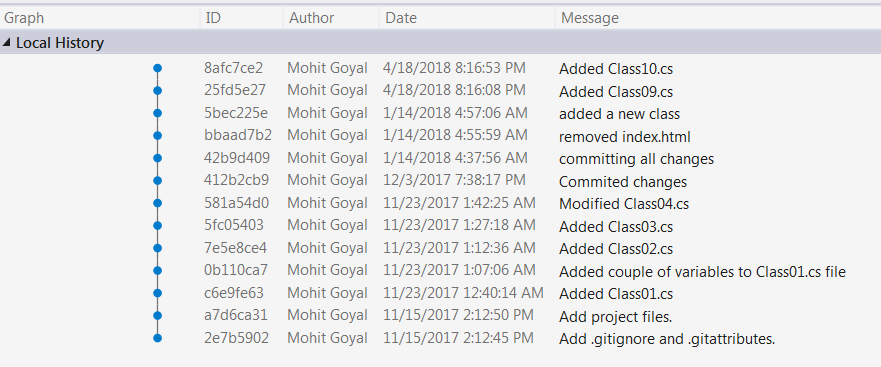 Working with Git and Visual Studio – Use Git Rebase inside