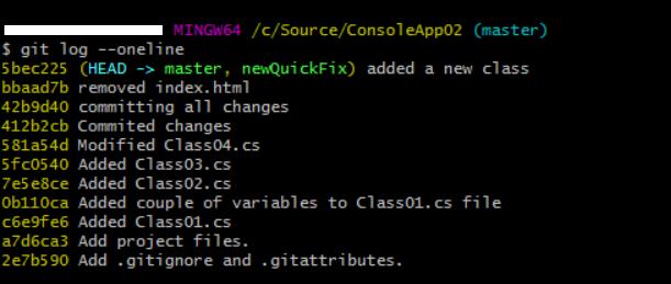 Git commit history details - 01