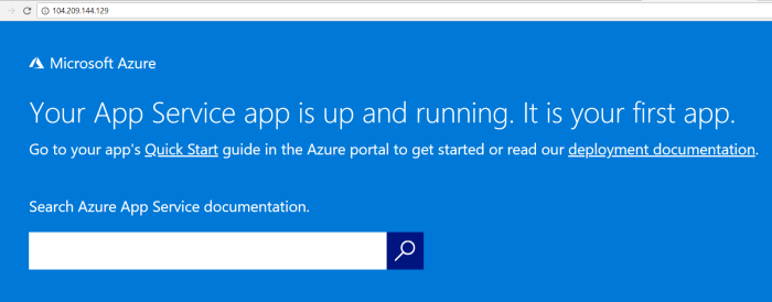 Accessing azure web apps with nginx server IP address