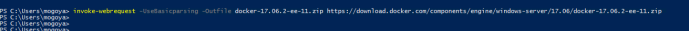 Download the Zip package containing docker binaries
