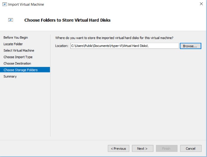 You can choose to specify path for clone virtual machine
