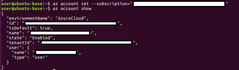 Setting and getting azure subscription in the current context