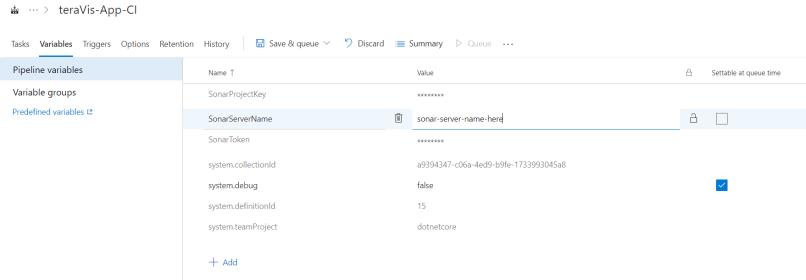 add encrypted variables in the azure devops pipeline