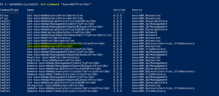 check if there are any commands to help with resources provisioning